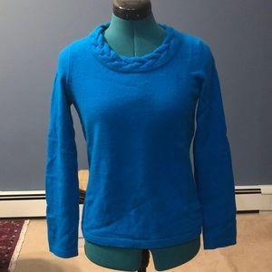 100% Cashmere Blue Sweater